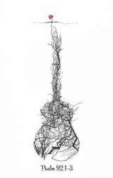 Guitar roots of a rose